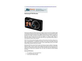 Samsung ST700 Review(Steve's DIGICAMS)