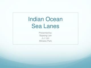 Indian Ocean Sea Lanes