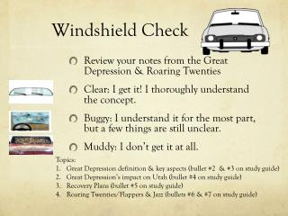 Windshield Check