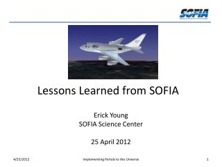 Lessons Learned from SOFIA
