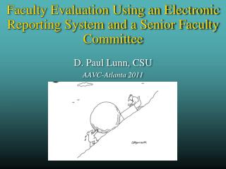 Faculty Evaluation Using an Electronic Reporting System and a  Senior  Faculty Committee