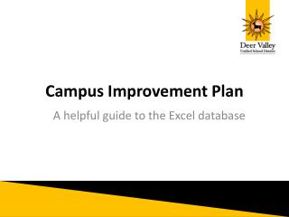 Campus Improvement Plan