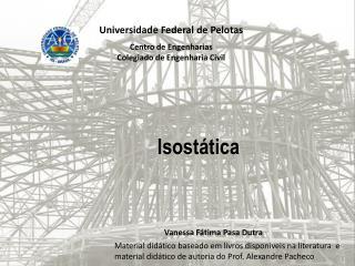Universidade Federal  de Pelotas Centro de Engenharias Colegiado de Engenharia Civil