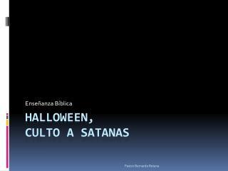 Halloween,  culto  a  satanas
