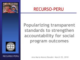 Popularizing transparent standards to strengthen accountability for social program outcomes