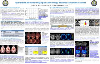 Quantitative Biomarker Imaging for Early Therapy Response Assessment in Cancer