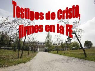 Testigos de Cristo, firmes en la FE