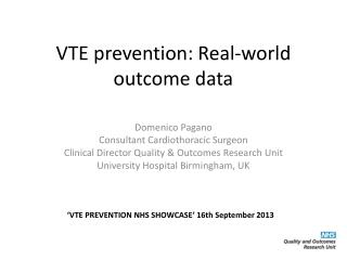 VTE prevention: Real-world outcome data