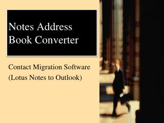 Notes Contact to Outlook