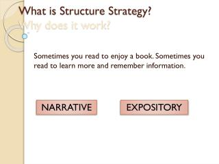 What is Structure Strategy? Why does it work?