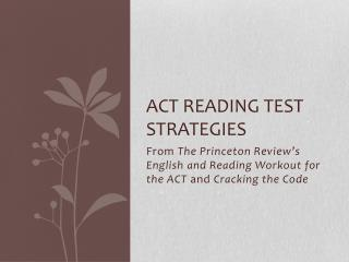Act Reading test strategies