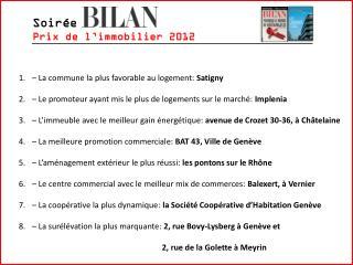 Soir�e Prix de l�immobilier 2012