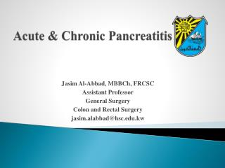 Acute & Chronic Pancreatitis