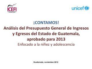 Guatemala, noviembre 2012