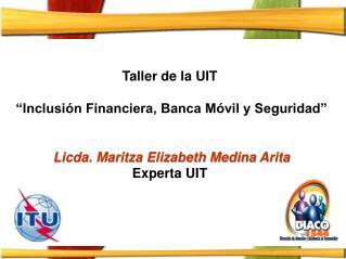 """Taller de la UIT  """"Inclusión Financiera, Banca Móvil y Seguridad"""""""