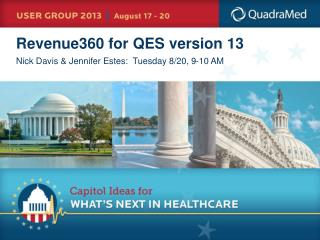 Revenue360 for QES version 13