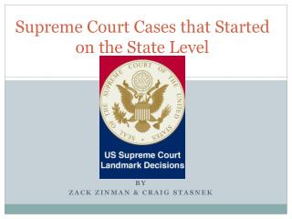 Supreme Court Cases that Started on the State Level
