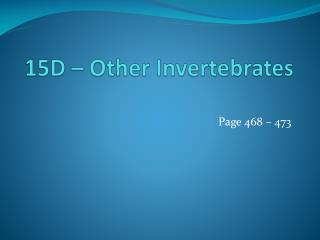 15D – Other Invertebrates