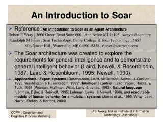 An Introduction to Soar