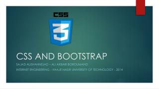 CSS AND BOOTSTRAP