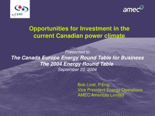 Opportunities for Investment in the current Canadian power climate
