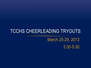 TCCHS Cheerleading Tryouts