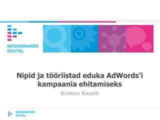 Nipid ja tööriistad eduka AdWords'i kampaania ehitamiseks