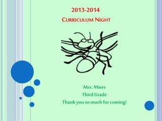 2013-2014   Curriculum Night