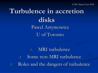 Turbulence in accretion disks