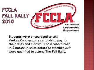 FCCLA  Fall Rally  2010