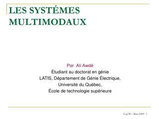 LES SYSTÉMES MULTIMODAUX