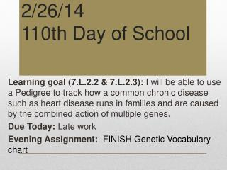 2/26/14 110th Day of School
