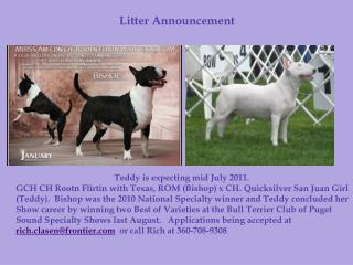 Litter Announcement