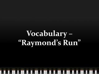 raymond run by toni cade bambara essay