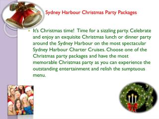 Sydney Harbour Christmas Party Packages