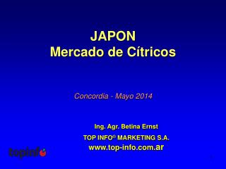 JAPON Mercado de Cítricos