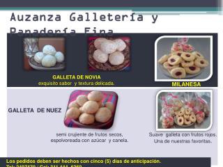 Auzanza Galletería y Panadería Fina