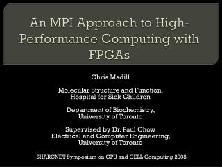 An MPI Approach to High-Performance Computing with FPGAs
