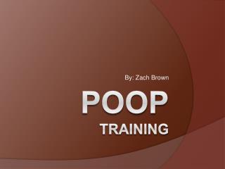 POOP Training