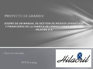 PROYECTO DE GRADO II