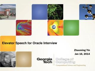 Elevator Speech for Oracle Interview