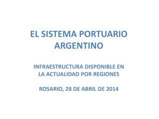 PRINCIPALES CARGAS MOVILIZADAS  EN EL SISTEMA PORTUARIO ARGENTINO POR REGIÓN EN 2012