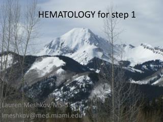 HEMATOLOGY for step 1