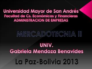 Universida d Mayor de San Andrés Facultad de Cs. Económicas y Financieras