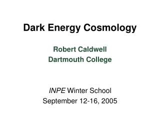Dark Energy Cosmology