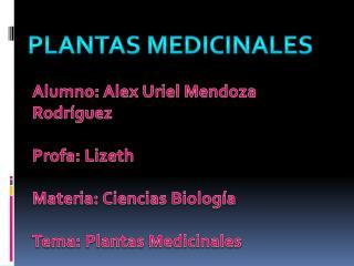 Alumno: Alex Uriel Mendoza Rodr�guez Profa: Lizeth Materia: Ciencias Biolog�a