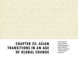Chapter 22: Asian Transitions in an Age of Global Change