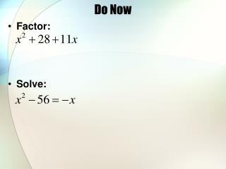 Do Now