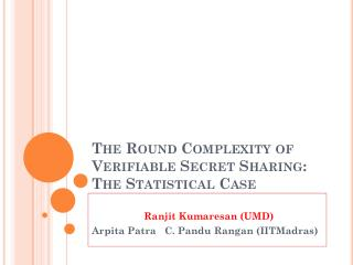 The Round Complexity of Verifiable Secret Sharing: The Statistical Case