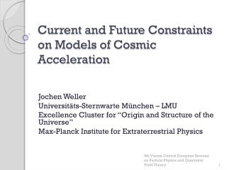 Current and Future Constraints on Models of Cosmic Acceleration